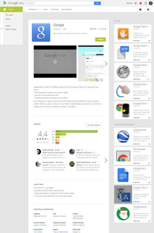 Webversie Play Store