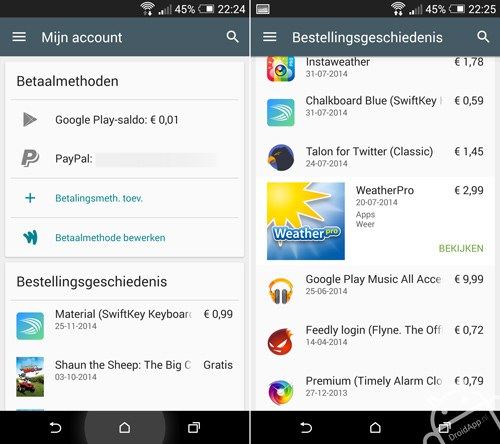 Google Play Store 5.1
