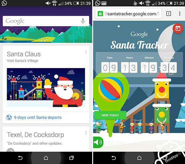santa claus google now