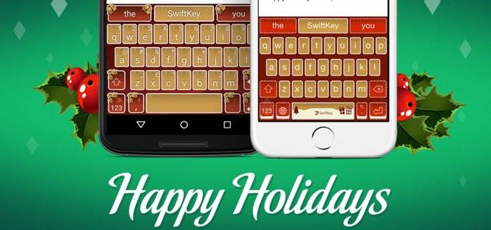 SwiftKey geeft gratis kerst-thema's weg als kerstcadeau