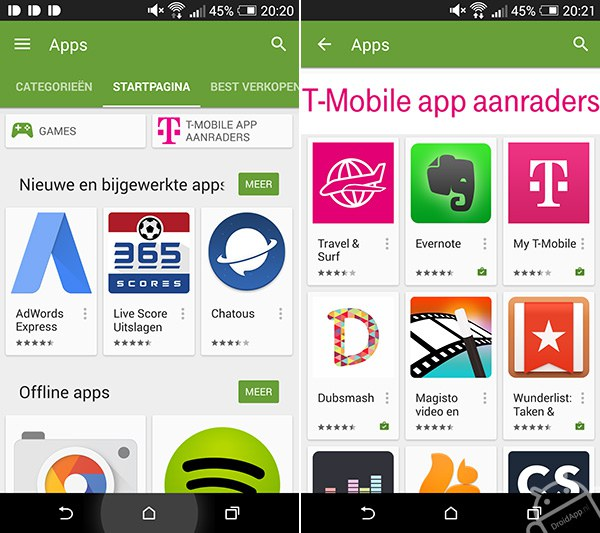 T-Mobile Play Store