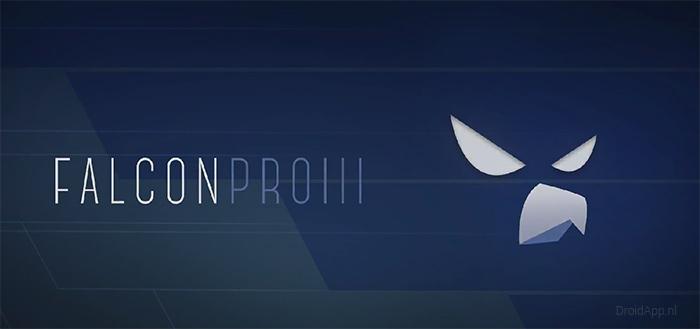 Falcon Pro 3 met strak Material Design verschijnt in Play Store
