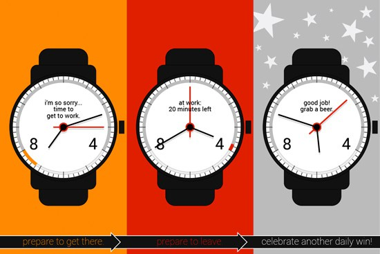 9to5 Work Android Wear watchface