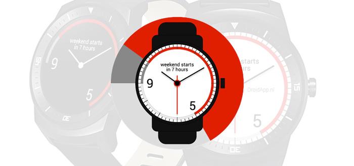 9to5 Android Wear Watchface laat je het einde van de werkdag zien