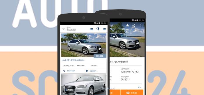 AutoScout24 app krijgt Material Design en verkoop-functie