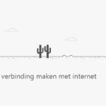 Verborgen dinosaurus-game uit Google Chrome, voor Android