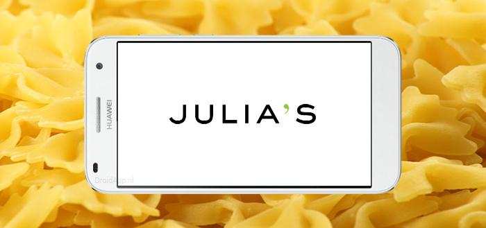 Julia's: pasta bestellen via app in de trein, afhalen op station