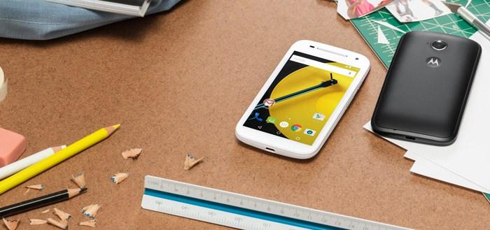 Motorola kondigt 'The new Moto E' aan