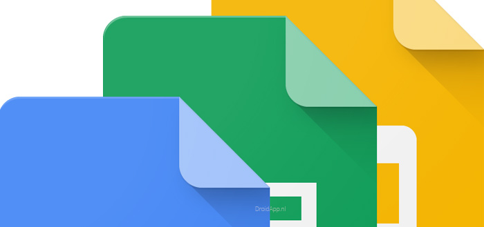 Google Docs, Sheets en Slides krijgen nieuwe Material Theme-interface