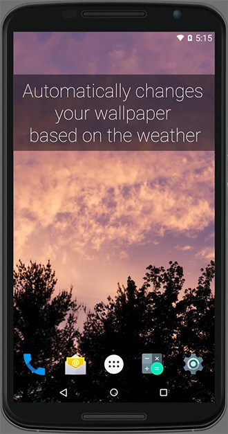 smart weather wallpaper