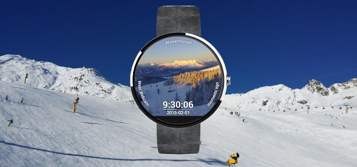 Wear.Webcam: Webcams als watchface