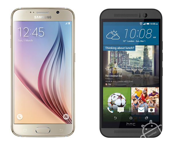 Samsung Galaxy S6 - HTC One M9