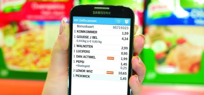 Albert Heijn laat klanten zelfscannen met Appie-app in 200 winkels