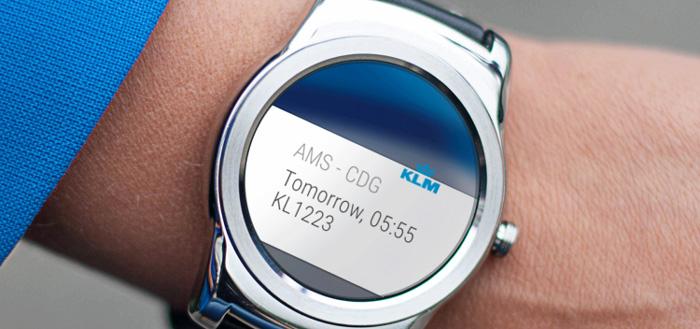 KLM zet in op Android Wear met update KLM-app