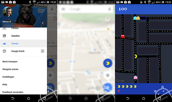 Pacman Android Google Maps