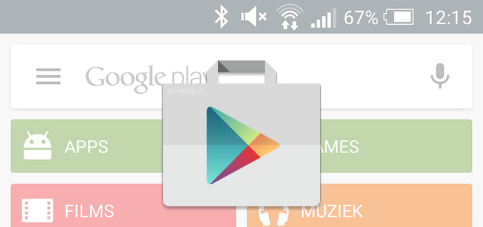 Google Play Store 6.9: aanwijzingen voor 'app streaming' en downloaden via VR-bril