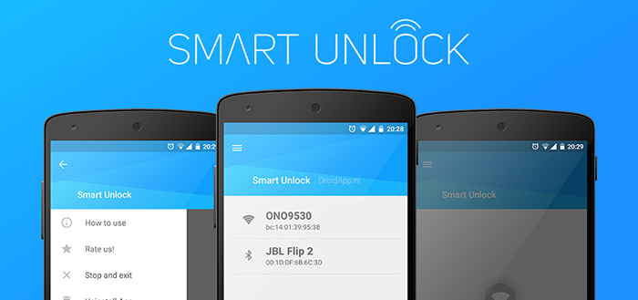 Smart Unlock: ontgrendel je smartphone via WiFi of Bluetooth