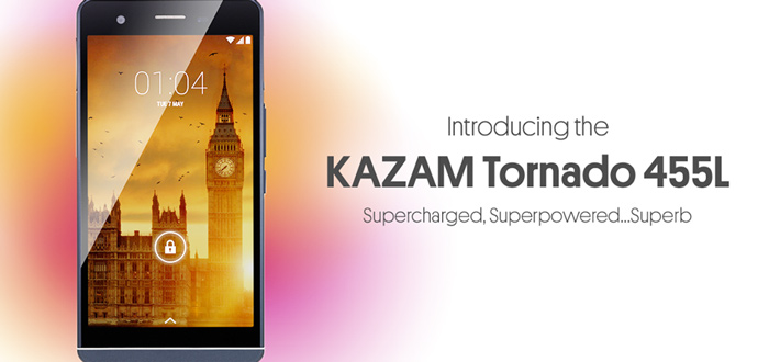 Kazam Tornado 455L: dunne, 4G-smartphone aangekondigd