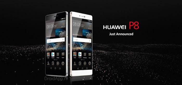 Huawei P8 met gelikte metalen behuizing aangekondigd
