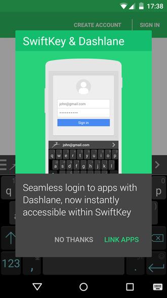 Dashlane Swiftkey