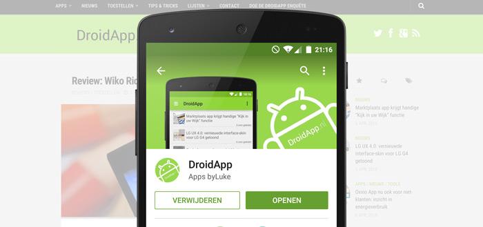 DroidApp lanceert eigen app: DroidApp App