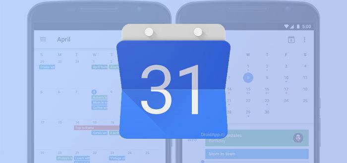 Google Agenda update brengt eindelijk maandweergave terug (+ APK)