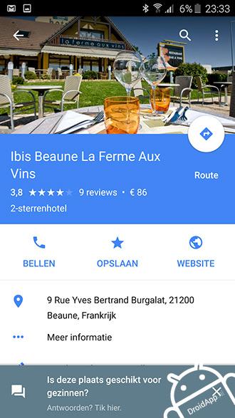 Google Maps beoordeling