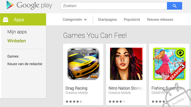 Games You Can Feel - Play Store