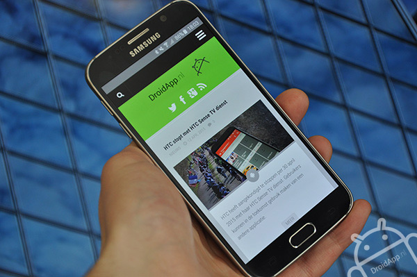 Samsung Galaxy S6 browser