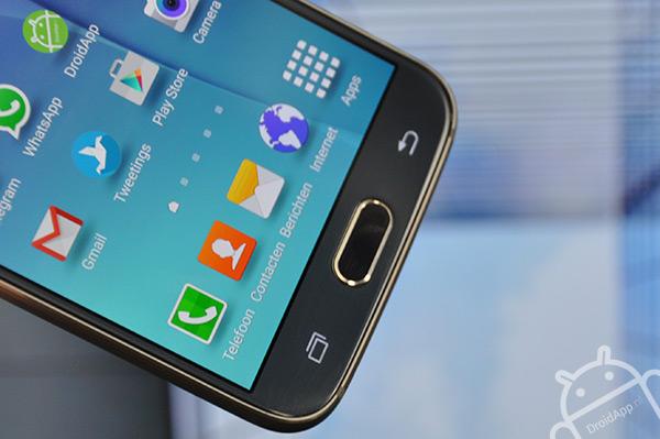 Samsung Galaxy S6 touch-sensitive