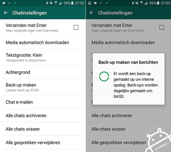WhatsApp Back-up