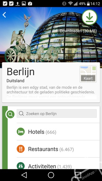 TripAdvisor Berlijn app