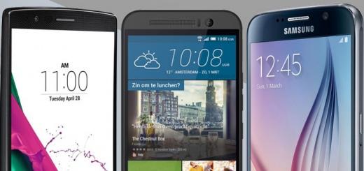 LG G4 Samsung Galaxy S6 HTC One M9 header