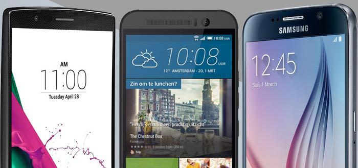 LG G4 vs. Samsung Galaxy S6 vs. HTC One M9: de grote vergelijking