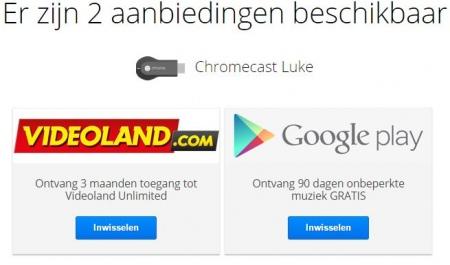 Chromecast aanbieding Videoland