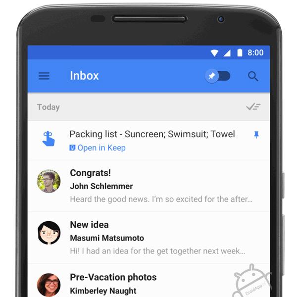 Inbox Gmail Keep