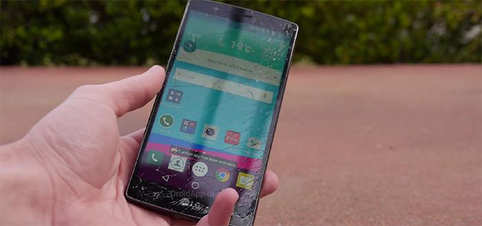 LG G4 onderworpen aan drop-test