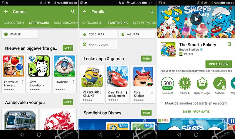 Kindvriendelijke Play Store