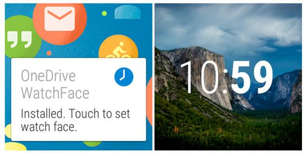 Watchface OneDrive