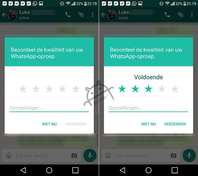 Beoordeling WhatsApp