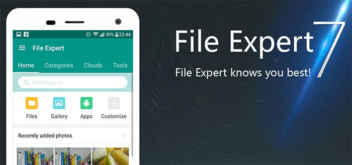 File Expert: fraaie, uitgebreide bestandsbeheerder in Material Design