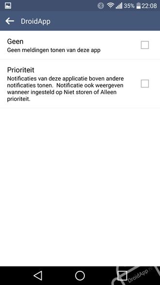 LG G4 notificatie