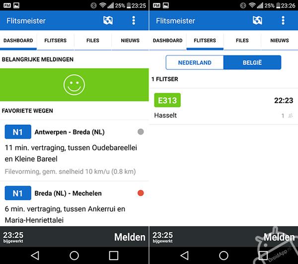 Flitsmeister nu ook in België en vernieuwde interface