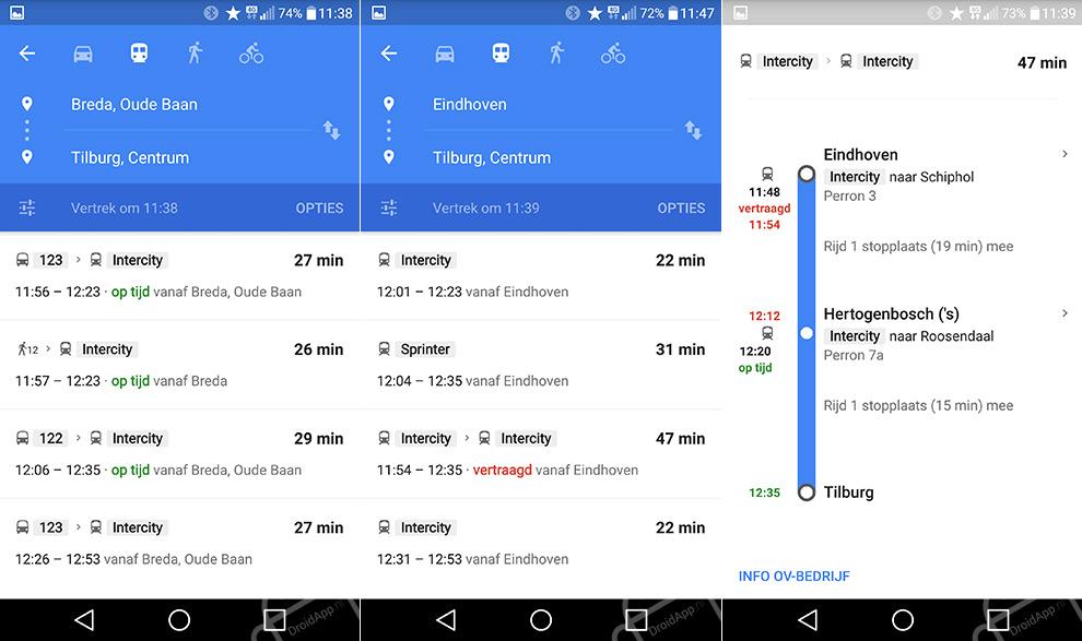 Google Maps realtime OV