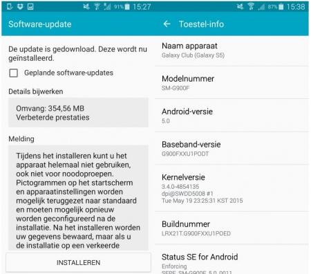 Galaxy S5 Update Juni