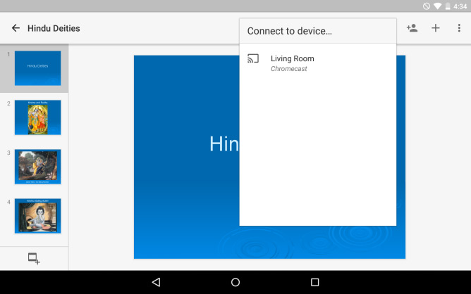Google Slides Chromecast