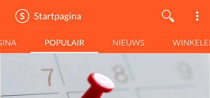 Startpagina app in compleet nieuw jasje gestoken