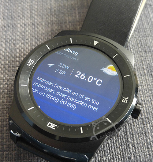 Het Weer in Nederland app Android Wear