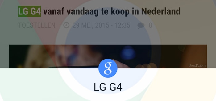 Chrome: nieuwe zoekfunctie 'Tikken om te zoeken' uitgerold