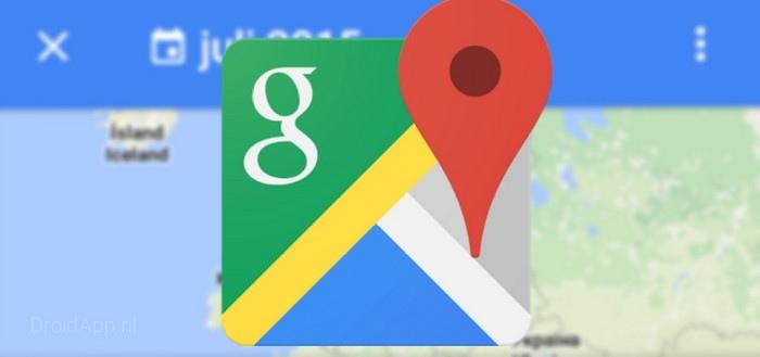 Google Maps 9.31 beta: tijdlijn-functie make-over en offline opslaan SD-kaart